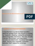 Operation & Maintenance of Transformers