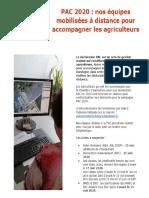 La Chambre d'agriculture accompagne les agriculteurs pour leurs demandes de PAC 2020