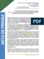 Nota de prensa_ Lamentamos la falta de impacto en la población migrante de las medidas agrarias de urgencia