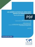 Armées africaines - avril-2018 IFRI