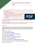 Melhores praticas na publicacao de dados e estatisticas na web