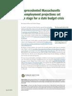 Pioneer Institute projected Massachusetts unemployment amid coronavirus