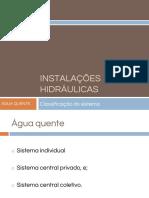 Instalações hidráulicas-Aula1