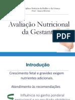 Aula 4 AVALIAÇÃO NUTRICIONAL DA GESTANTE PDF