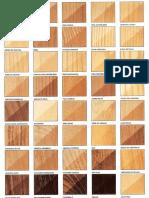 Tipología de maderas y tonos