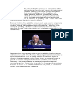 Camillioni define la didáctica como una disciplina teórica