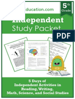 independent-study-packet-5th-grade-week-1