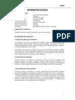 test Stroop lucero hinostroza INFORME PSICOLOGICO