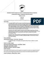 Agenda for April 9th Franklin County Commission meeting