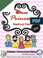 Disney Princess Preschool Pack - Islamic Version