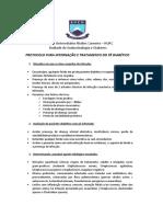 Protocolo de pé diabético 2017