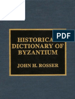 Historical Dictionary of Byzantine