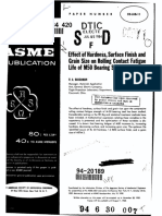 ASME 59-LUB-11 - Effect of Hardness, Surface Finish and Grain Size on Rolling Contact Fatigue Life of M50 Bearing Steel