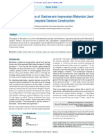 Clinical Implications of Elastomeric Impression Materials Used for Complete Denture Construction