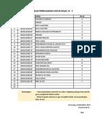 Daftar Pembagian Kelas III-F