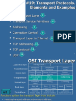 19. Transport Protocols. Elements and Examples