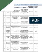 Plan de Capacitación Excel