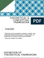 Theoretical Framework & Conceptual Framework