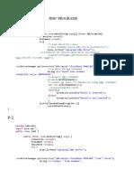 JDBC PROGRAMS