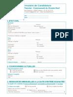 Formulaire de Candidature Foyer Henri Planchat