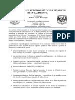 ELEMENTOS DE LOS MODELOS ESTÁTICOS Y DINÁMICOS DE UN YACIMIENTO