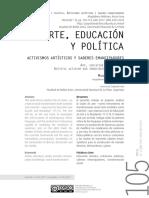 educacion artistica -militancia