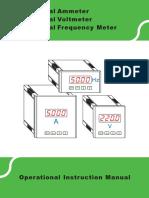 SFN Digital Voltmeter,Ammeter,Frequency Meter