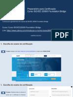 Tutorial para agendamento do exame da ISO 20000 Foundation Bridge