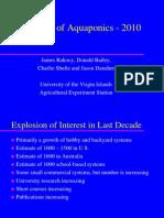 The Status of Aquaponics: 2010