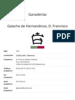 Galache de Hernandinos, D. Francisco – Unión de Criadores de Toros de Lidia