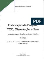 ELABORAÇÃO DE PROJETO, TCC, DISSERTAÇÃO E TESE