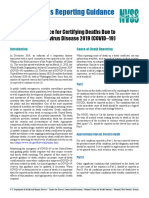 US HHS Document to Doctors on How to Certify COVID-19 Deaths including Related Deaths