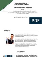 NIA 720 Responsabilidad Del Auditor en Relación a Otra Información en Doumentos Que Contienen Los Estados Financieros Auditados