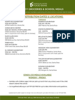 Free Meals for Children- School Distributions Coronavirus/ Covid 19
