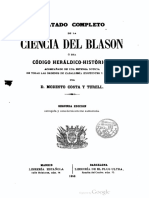 Costa y Turell, Modesto - Tratado de Ciencia Heráldica