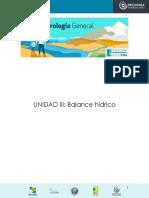 Hidrología General_Unidad III_Balance Hídrico