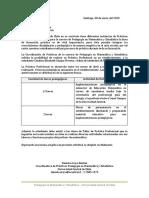 Carta Formato Práctica Profesional - Catalina Gangas