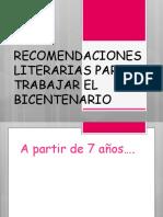 6) RECOMENDACIONES LITERARIAS PARA  TRABAJAR EL BICENTENARIO.pptx