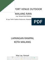 data suport venue outdoor Malang raya  Lap Rampal & STD luar kanjuruan.pptx