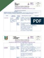 formato de planeación proyecto PRIMERA INFANCIA