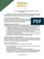 Decálogo para la creación una Ley Nacional de Adopción presentando por Embajadoras y Embajadores Adopción México