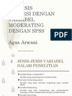 SPSS MODERATING