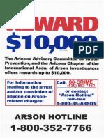 Tucson Arson Reward Tip Form