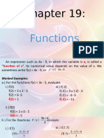 Chapter 19 - Functions