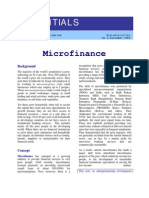 Essential on Micro Finance