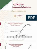 CP Salud Curvas Epidémicas Defunciones, 08abr20