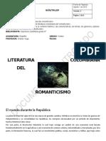 1. GUIA - LITERATURA COLOMBIANA DEL ROMANTICISMO