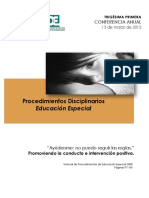 Procedimientos Disciplinarios Conferencia 2013