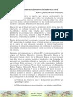 Leyes Que Amparan La Educación Inclusiva en El Perú