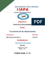 TAREA 4 Y 5 DE TEORIA DE LA PERSONALIDAD. MARIA..docx